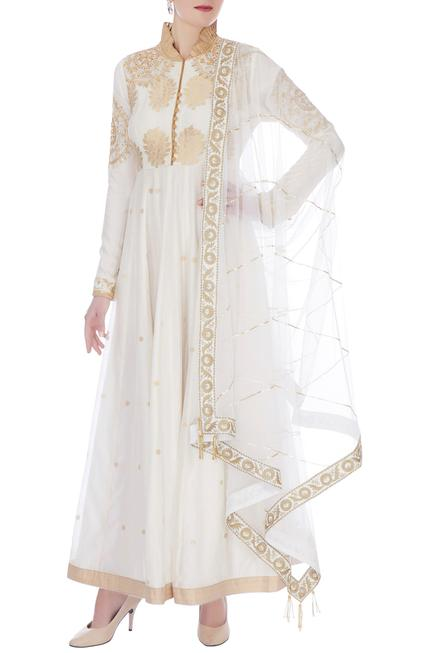Handloom Chanderi Anarkali with Dupatta