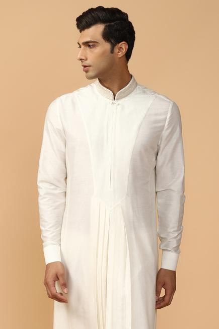 Pleated Kurta Set