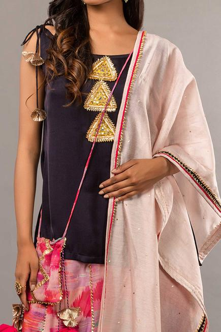 Embroidered Tunic Set