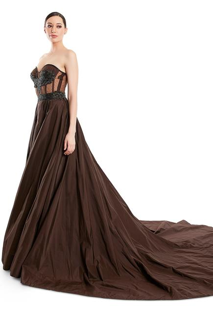 Off-Shoulder Embroidered Gown
