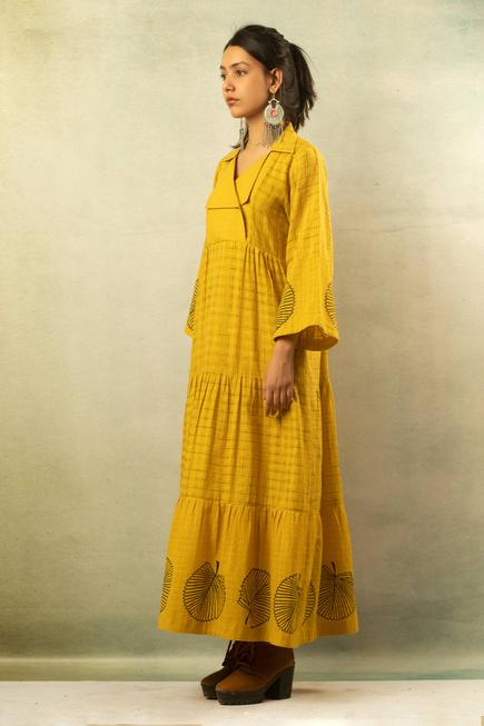 Handwoven Printed Maxi Dress
