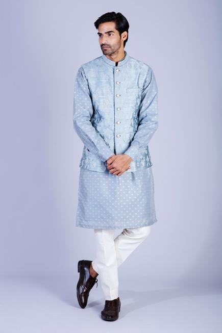 Chanderi Silk Kurta Set