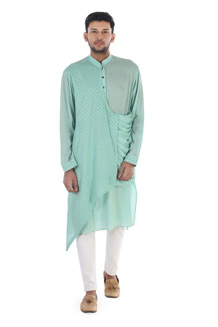 Block Print Draped Kurta