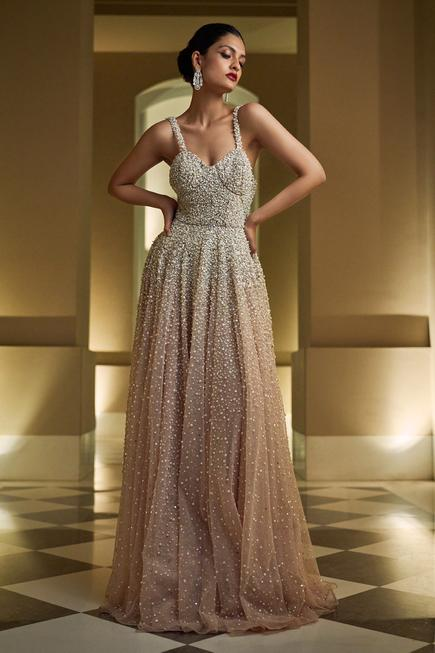 Flared Embellished Gown