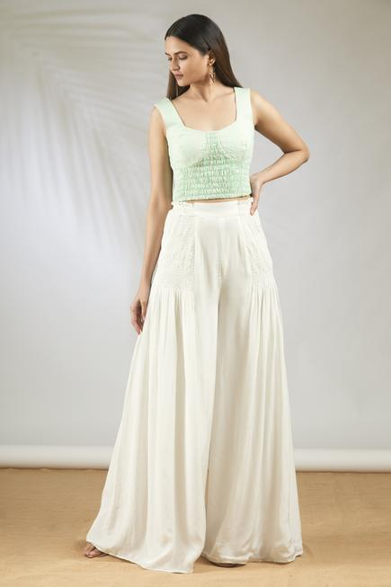 Crop Top with Flared Pant