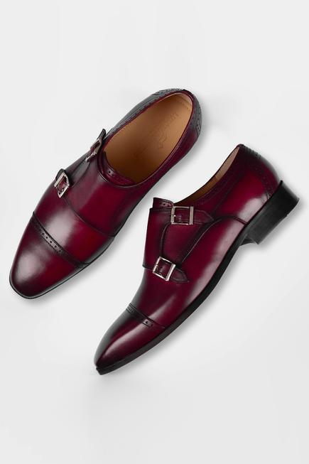 Hand Painted Brogue Double Monks
