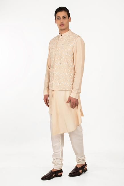 Floral Embroidered Nehru Jacket