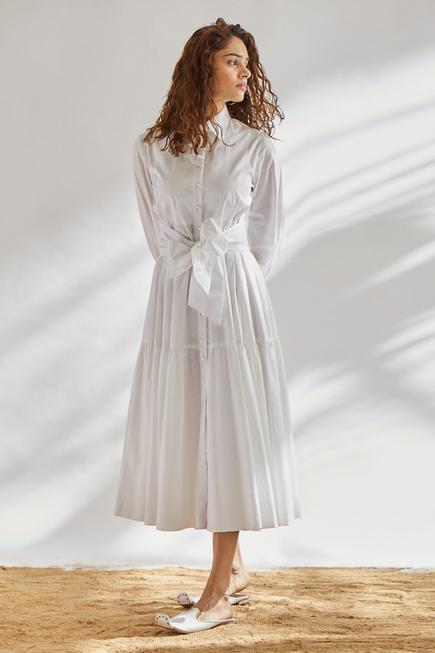 Shirt Dress with Tie-Up