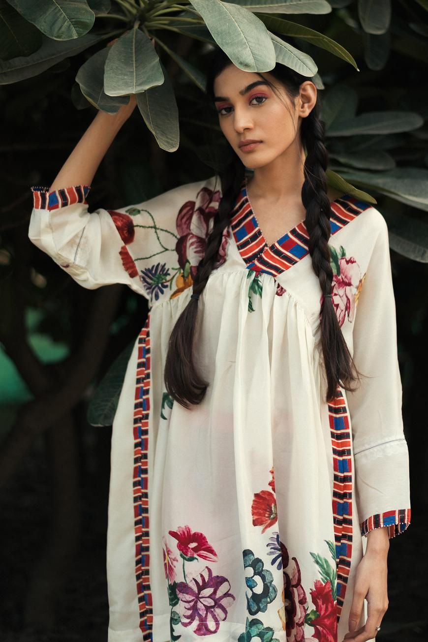 Pure Silk Hand Painted Dress