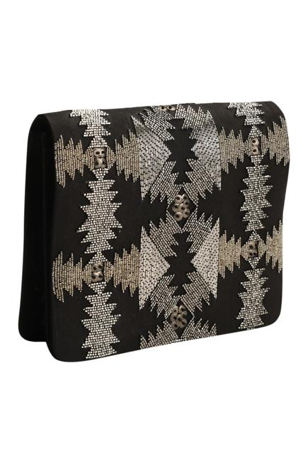 Embroidered Flap Clutch with Sling