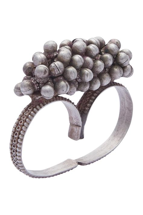 Ghungroo Cluster Two-Finger Ring