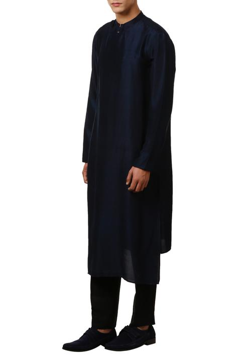 Overlap asymmetric kurta with side placket