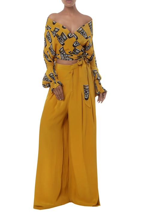 Printed Flared Pant Set