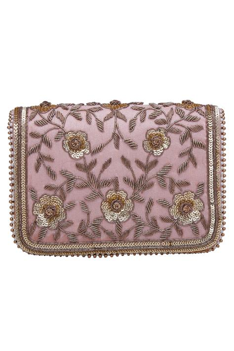 Embroidered clutch cum sling