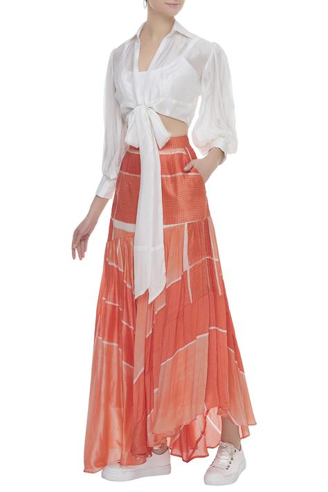 Tie Up Top With Skirt