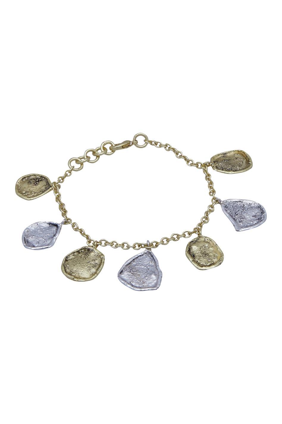 Dual tone chain bracelet