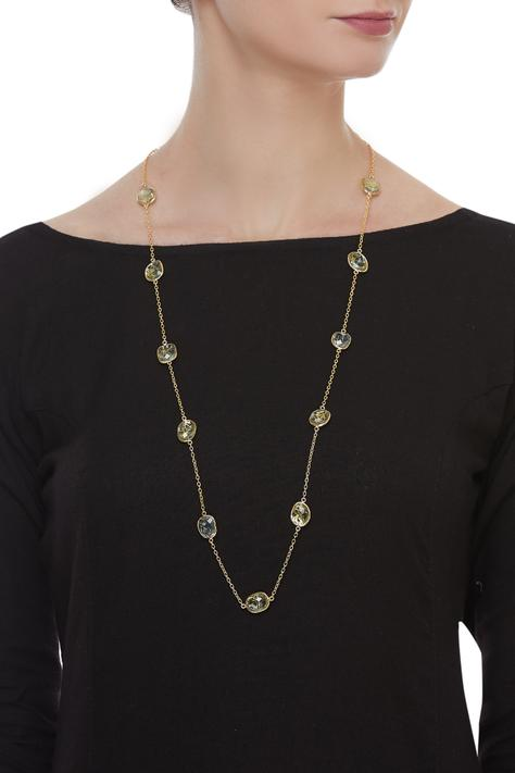 Stone studded chain necklace