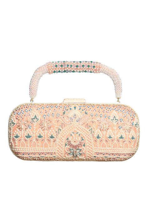 Resham embroidered clutch