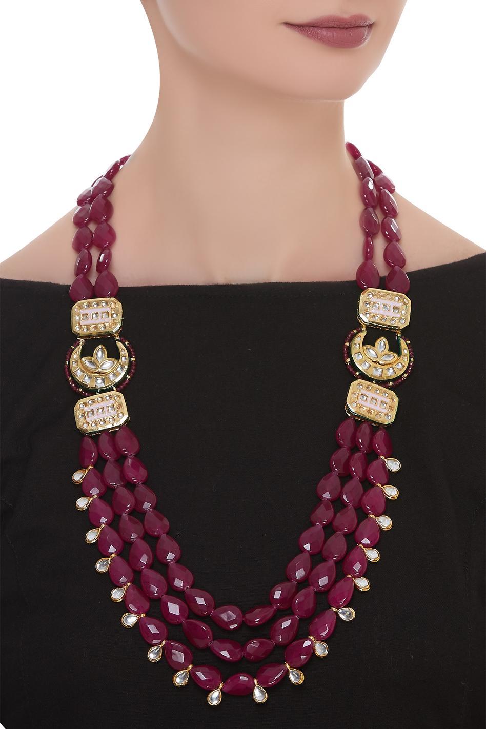 Layered Jadtar Bead Necklace