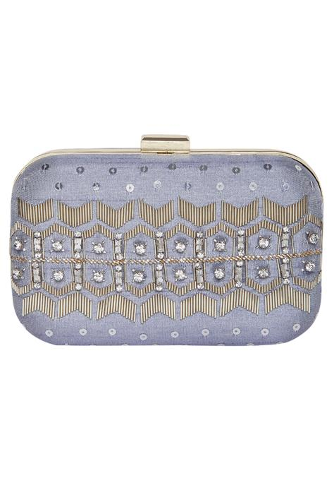 Sequin embroidered clutch