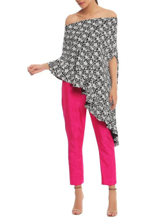 Printed top with trouser