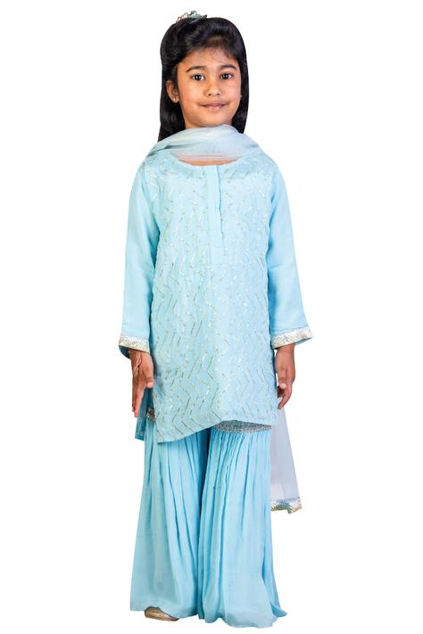 Gota Patti Kurta Sharara Set