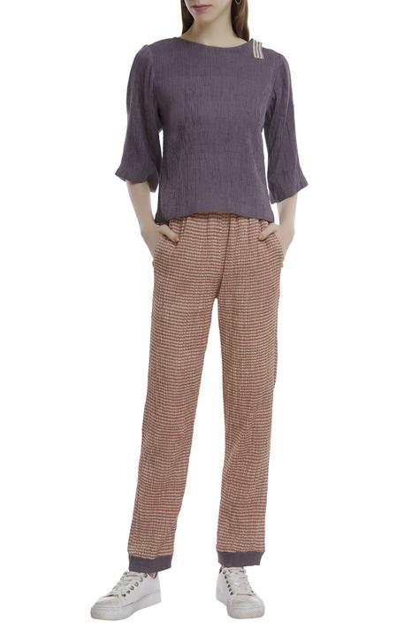 Handwoven Striped Pants