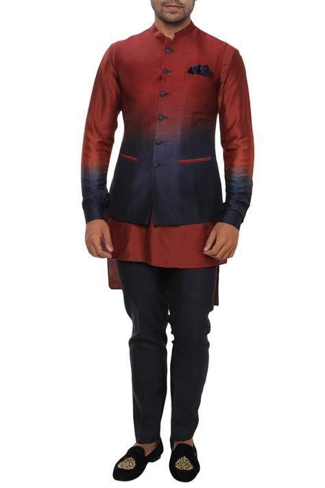 Ombre Bundi Kurta Set