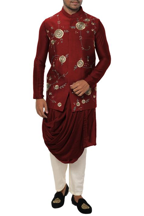 Draped Kurta Bundi Set