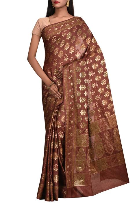Pure Tusser Silk Saree with Running Blouse