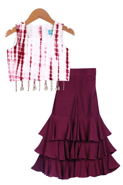 Tie & Dye Top With Sharara