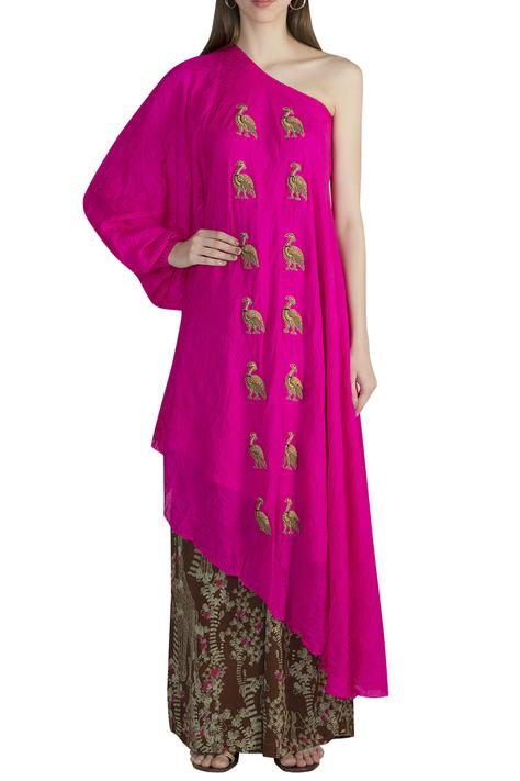 Embroidered Tunic Pant Set