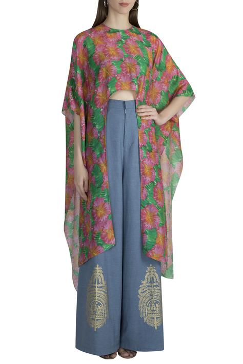 Chanderi Top Pant Set