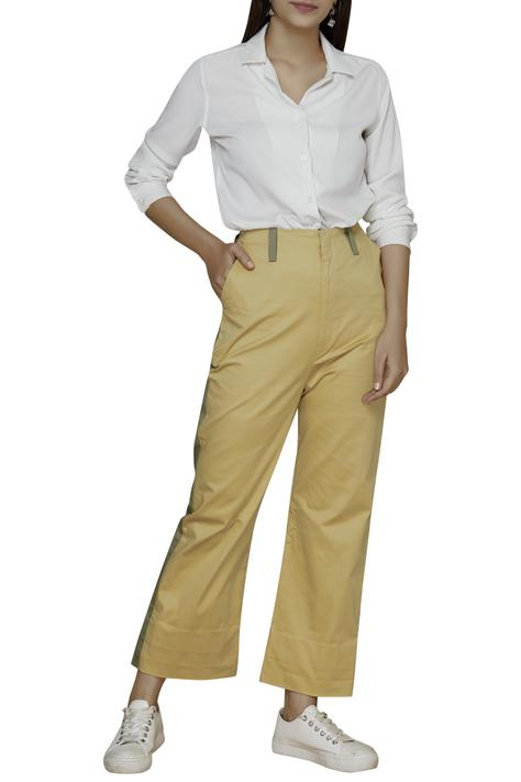 Colorblock Flared Pants