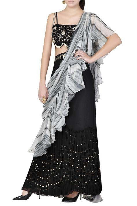 Pre-Draped Skirt Saree