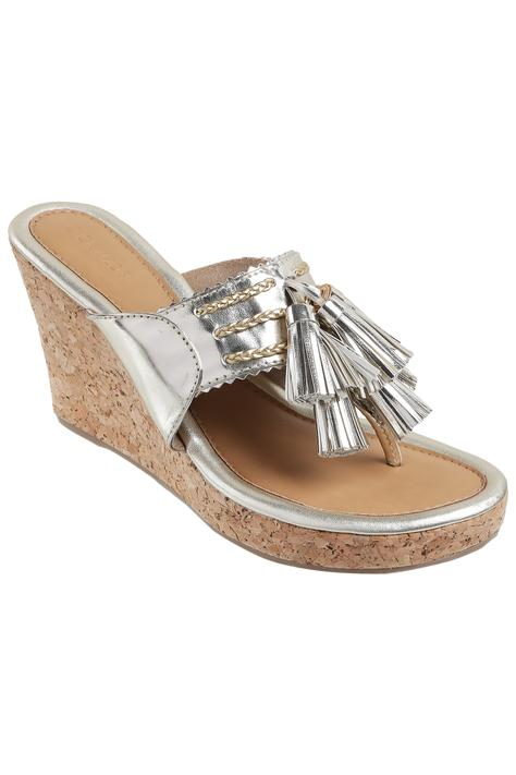 Metallic Kolhapuri Wedges
