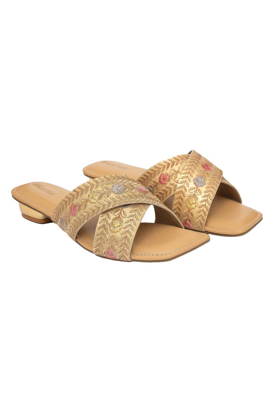 Shabnam Cross Strap Sandals