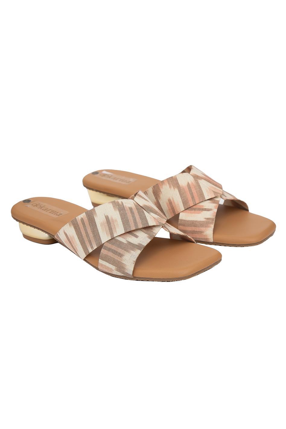 Maahru Ikat Square Toe Sandals