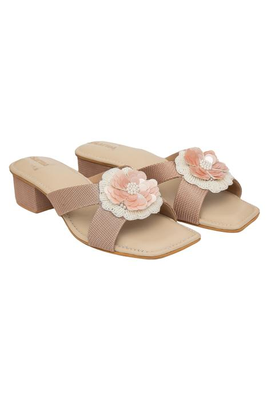 Madno Floral Block Heels