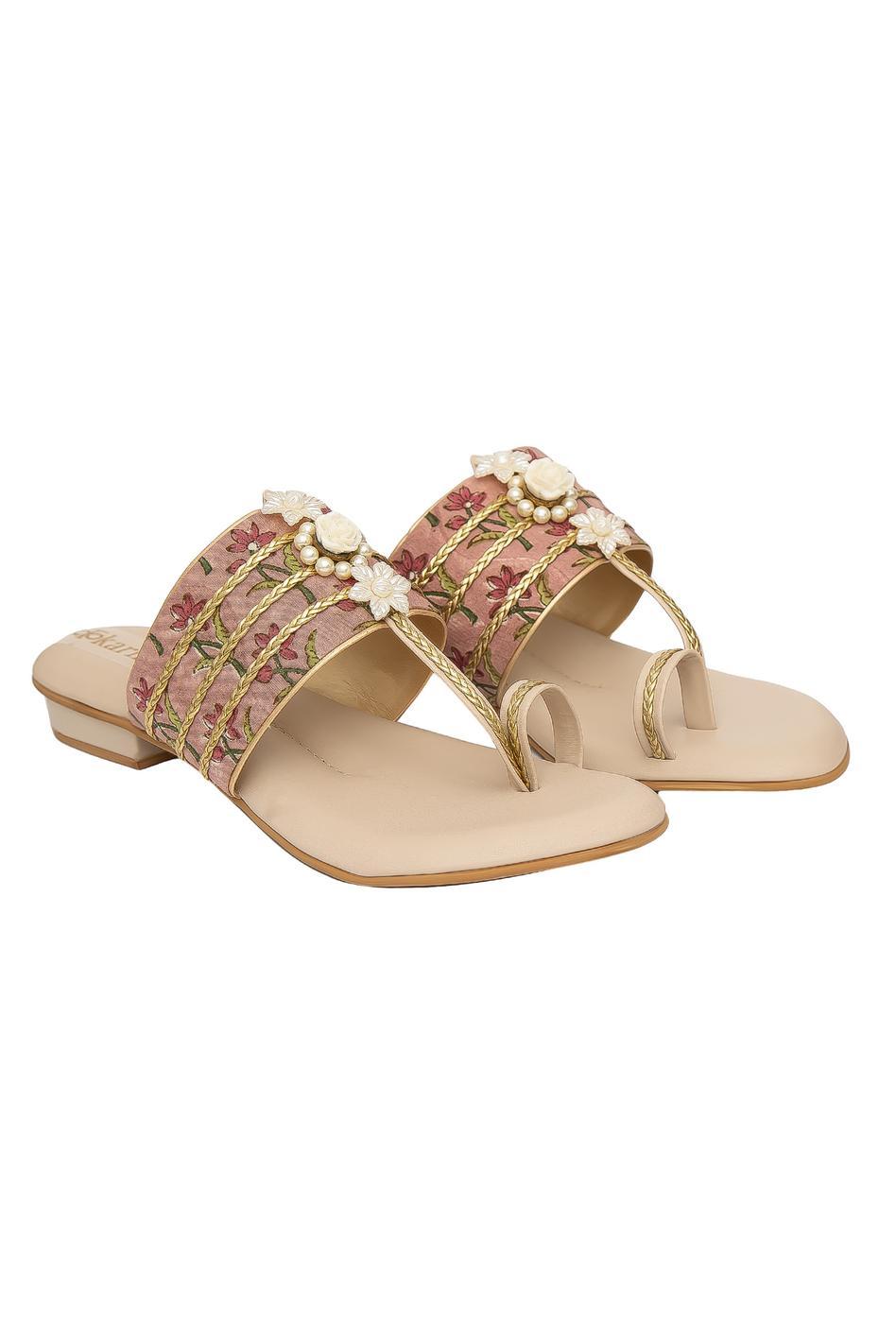 Ziba Ikat Kolhapuri Sandals