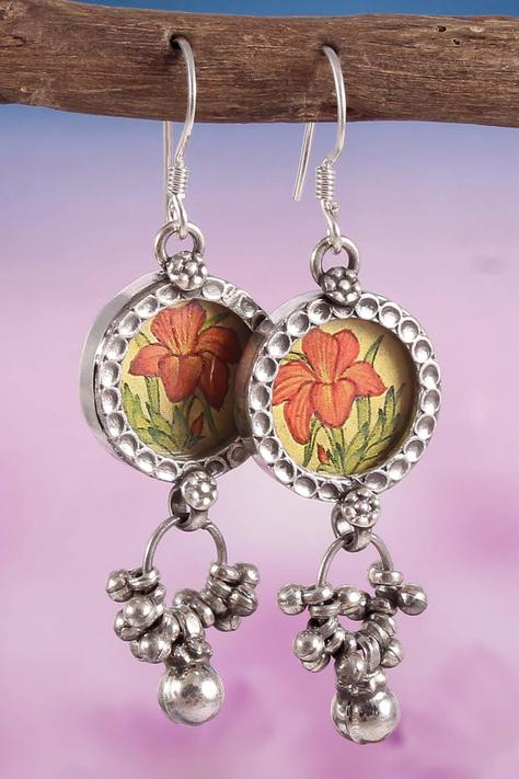 Handcrafted Floral Paint Danglers