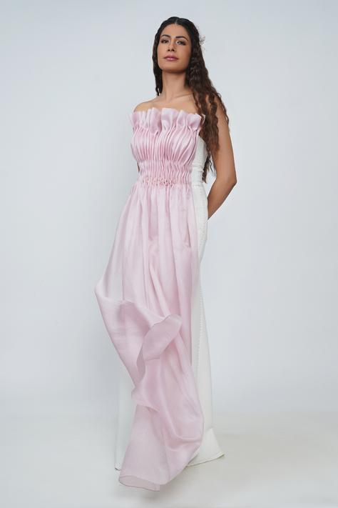 Olivia Ruched Bandeau Gown