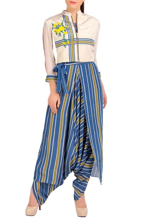 Printed Jumpsuit with Short Jacket