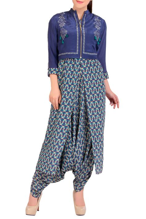 Printed Dhoti Jumpsuit with Jacket