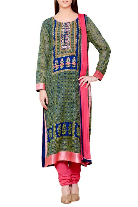 Block Print Kurta Set
