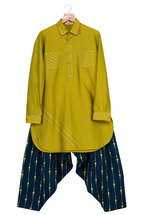 Gota Embroidered Pathani With Patiala