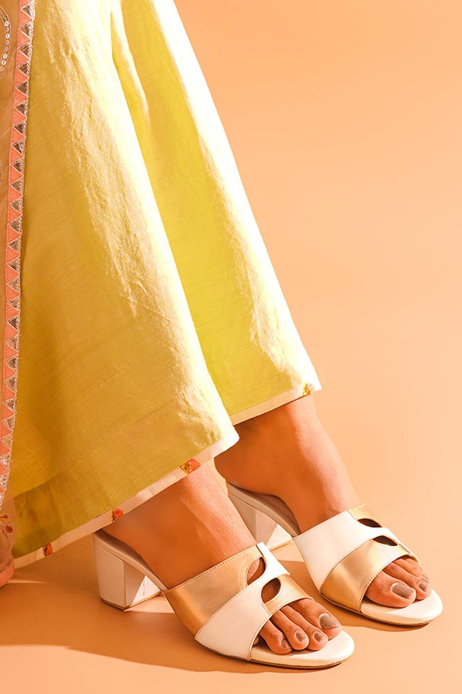 Aaarna Colorblock Block Heels