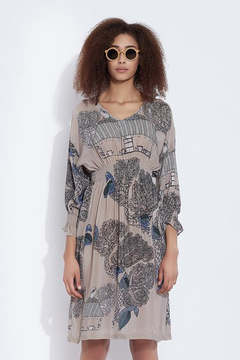 Silk Printed Dress