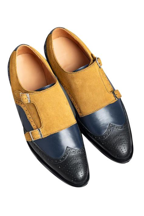 Brogue Double Monk Shoes