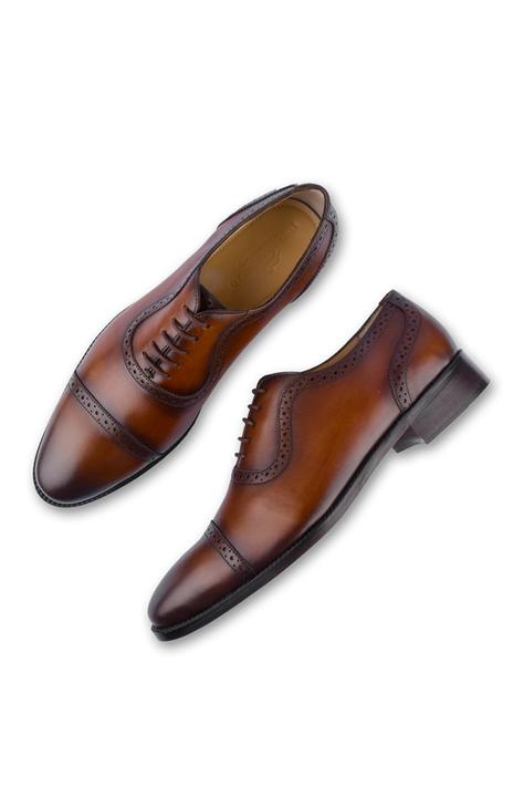 Hand Painted Cap Toe Brogue Oxfords